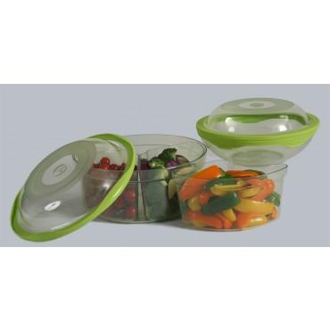 set + 1 flat lid ( 7 pcs )